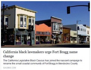 Lawmakers discuss legislation to force a small CA city to change its name, because the fort the city was named after was named after an Army General who at one point served in the Confederate Army