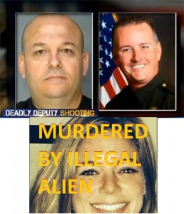 Where these three people are murdered by multiple time deported illegal aliens who were multiple time convicted felons and the president does nothing, yet he sends representatives to the funerals of felons who were killed by cops