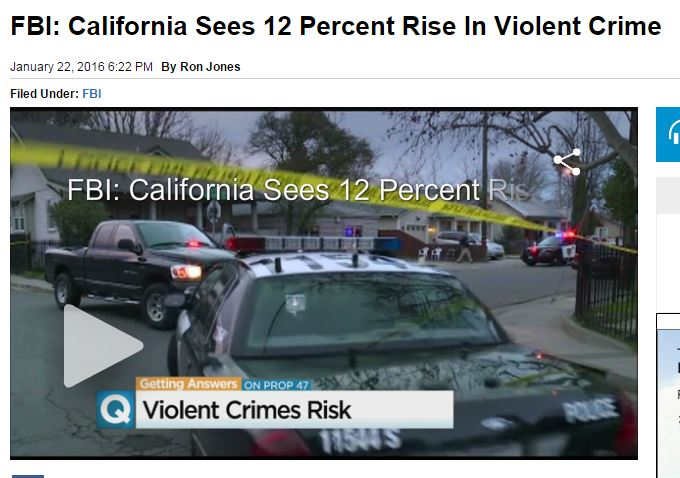 Thanks to Dem Lawmakers, California Sees Significant Rise in Violent Crime