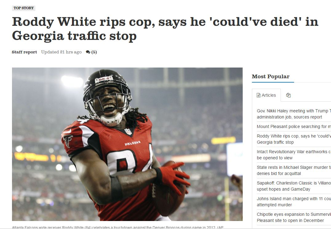 "Ex-NFL Player ""Nearly Dies"" When Stopped By Cop"