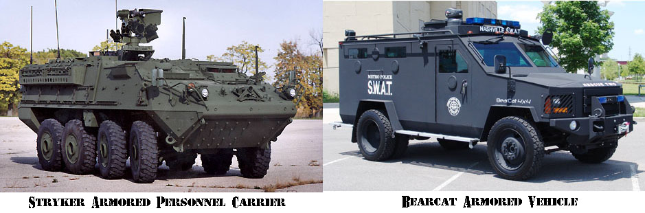 Armored Personnel Carrier vs. a Law Enforcement Armored Vehicle