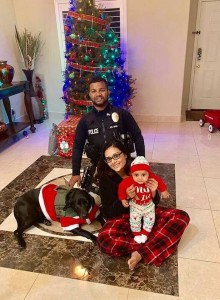 Cpl. Singh with his family mere hours before he was murdered.